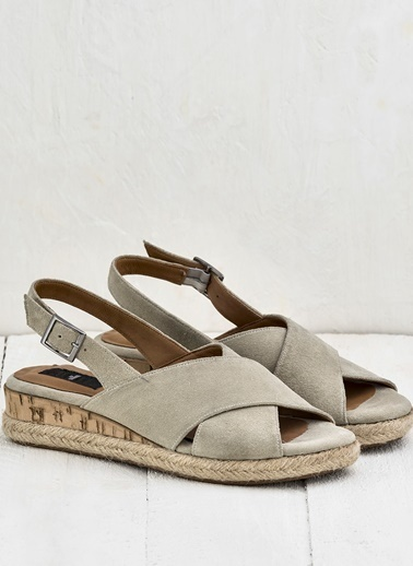 Elle Deri Sandalet Bej